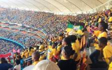 ANC supporters at the FNB Stadium in Johannesburg for the ruling partys Siyanqoba rally, 4 May 2014. Picture: ANC/Twitter.