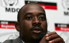 FILE: Zimbabwe's Movement for Democratic Change (MDC) leader Nelson Chamisa addresses the media in Harare on 2 April 2008. Picture: AFP