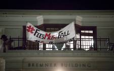 FILE: UCT #feesMustFall protestors occupy Bremner building. Picture: Anthony Molyneaux/EWN.