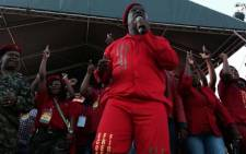 FILE: Malema is addressing thousands of supporters at the party's one year anniversary celebrations at Thokoza Park, Soweto. Picture: Sebabatso Mosamo/EWN.