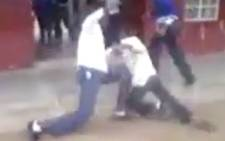 The 'Daily Sun' obtained dramatic footage of a KwaZulu-Natal schoolboy being beaten and speared to death by fellow classmates. Picture: Daily Sun.