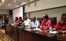FILE: Cosatu leadership at Press conference at Cosatu House in Johannesburg on 11 November 2014. Picture: Reinart Toerein/EWN.