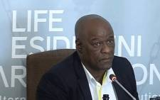 A screengrab of former Gauteng Health HOD Dr Barney Selebano at the Esidimeni hearing on 7 December 2017.