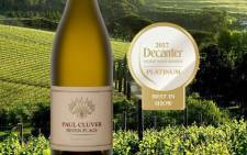 The SevenFlags Chardonnay 2016 won Platinum - Best in Show: Best Chardonnay at the Decanter. Picture: Twitter @paulcluverwines.