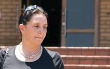 Estate agent Vicki Momberg seen outside the Randburg Magistrates Court after being found guilty of four counts of crimen injuria. Picture: Sethembiso Zulu/EWN.