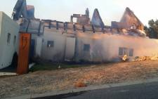 One of the properties that were damaged in the Gordon's Bay fire. Picture: City of Cape Town