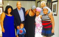 President Jacob Zuma with his family on Father's Day. Picture: Instagram @firstladytzuma.
