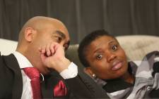 The National Director of Public Prosecutions of the National Prosecuting Authority (NPA) advocate Shaun Abrahams (left) and Deputy National Director of Public Prosecutions Nomgcobo Jiba (right) at the NPA's head office in Pretoria on 7 July 2015. Picture: Reinart Toerien/EWN