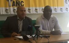 Western Cape ANC provincial secretary general Faiez Jacobs (left) at a press briefing. Picture: Lindsay Dentlinger/EWN