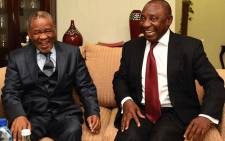 FILE: Deputy President Cyril Ramaphosa in his capacity as the Southern African Development Community (SADC) facilitator meets with Prime Minister of Lesotho Tom Thabane at Moshoeshoe the International Airport in Lesotho. Picture: GCIS