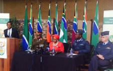 Defence Minister Nosiviwe Mapisa-Nqakula clarifies the lease of a Gupta-owned jet for a government delegation. Picture: Dineo Bendile/EWN.
