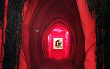 The Walk-in-vagina erected by artist Reshma Chhiba at the Women's Jail at Constitutional Hill in Braamfontein. Picture: Masego Rahlaga/EWN