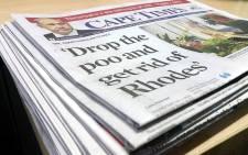 FILE: The 'Cape Times' newspaper. Picture: Gadeeja Abbas/EWN