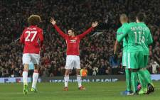 Manchester United's Zlatan Ibrahimovic celebrates his goal against St Etienne in the Europa League last 32 ties on 16 February 2017. Picture: Facebook.