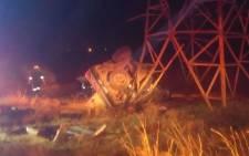 The scene of a car crash near Sasolburg. Picture: @ER24EMS/Twitter