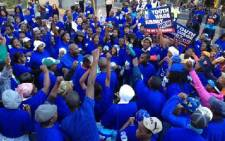 DA marchers gather. Picture: Ryno Geldenhuys/iWitness