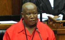 FILE: EFF leader Julius Malema in Parliament. Picture: GCIS.