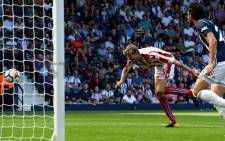 Stoke City's Peter Crouch scores their first goal Action Images via Reuters/Andrew Boyers. Picture: @stokecity/Twitter.