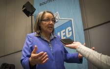 Cape Town Mayor Patricia de Lille speaks to journalists at the IEC's Western Cape results centre on 4 August 2016. Picture: Aletta Harrison/EWN