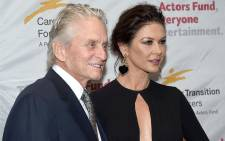 FILE: Michael Douglas and Catherine Zeta-Jones attend The Actor's Fund Career Transition For Dancers 2017 Jubilee Gala at Marriott Marquis Hotel on 1 November 2017 in New York City. Picture: AFP