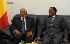 President Jacob Zuma (L) was invited by Chadian President Idriss Deby to join the extraordinary ECCAS summit in N'Djamena on 3 April. Picture: GCIS