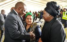This file photo taken on 29 March 2017 shows Deputy President Cyril Ramaphosa with Jessie Duarte and Dr Nkosazana Dlamini Zuma at the funeral service of anti-apartheid activist Ahmed Mohamed Kathrada. Picture: GCIS