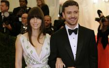 Justin Timberlake and Jessica Biel attend the Costume Institute Benefit at The Metropolitan Museum of Art. Picture: AFP