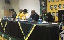 FILE: President Jacob Zuma and other members of the NEC. Picture: Clement Manyathela/EWN.