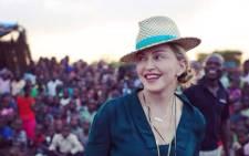 US singer Madonna visiting Malawi. Picture: Twitter @Madonna.