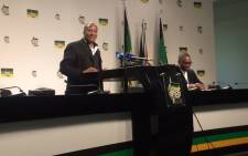 FILE: ANC's Jackson Mthembu at media briefing in Johannesburg. Picture: Dineo Bendile/EWN.