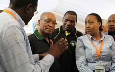 FILE: President Jacob Zuma visits vendors at the Progressive Business Forum on the sidelines of the Mangaung Conference. Picture: Taurai Maduna/EWN