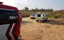 Paramedics at the scene of a drowning in Fourways. Picture: Supplied.