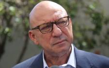 Former finance minister Trevor Manuel at the home of the late anti-apartheid activist Ahmed Kathrada. Picture: Christa Eybers/EWN.