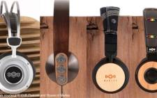 Some of the headphones from The House of Marley