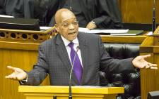 President Jacob Zuma during the last time he answered questions in Parliament on 11 March 2015. Picture: Thomas Holder/EWN.