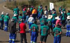 FILE: Members of Association of Mine workers and Construction Union (Amcu) protest at Glencore's Wonderfontein coal mine in Mpumalanga Picture: @_AMCU.