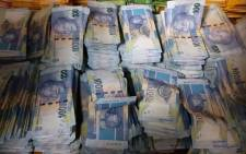 Some of the money that was found at a house in Ekurhuleni. Picture: Supplied