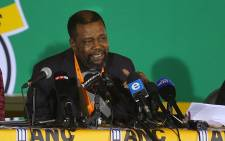 ANC's strategy and tactics head Joel Netshitenzhe addressing the press at its policy conference in Nasrec, Johannesburg. Picture: Christa Eybers/EWN.