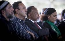 Former President Kgalema Motlanthe watches on during the late struggle stalwart Ahmed Kathrada's official state funeral at Westpark cemetery in Johannesburg on 29 March 2017. Picture: Reinart Toerien/EWN