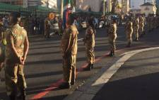 FILE: SANDF members rehearse for the opening of Parliament. Picture: Lindsay Dentlinger/EWN.