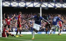 Everton's Oumar Niasse celebrates scoring their second goal. Picture: @Everton/Twitter.
