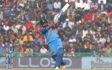 Rohit Sharma during his record third ODI double 100 in Mohali. Picture: @BCCI/Twitter