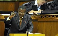 FILE: IFP leader Mangosuthu Buthelezi debates the President's State of the Nation Address in Parliament. Picture: GCIS