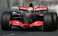 World Champion Lewis Hamilton in action during his first season in F1 in 2007
