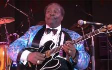 A screengrab pictures showing guitarist and blues legend, BB King.