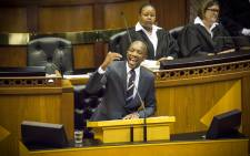 FILE: DA Parliamentary Leader Mmusi Maimane lambasted President Zuma and his cabinet calling him a broken man leading a broken country during his address for the Sona2015 debate. Picture: Thomas Holder/EWN