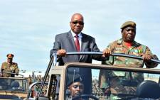 President Jacob Zuma inspects the parade during the South African Armed Force Day in 2014. Picture: GCIS.