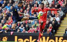 Southampton defender Jose Fonte vies for the ball with Liverpool's Daniel Sturridge during the teams' opening game of the EPL season on 17 August 2014. Picture: Official LFC Facebook page