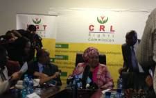 CRL Chair Thoko Mkhwanazi-Xaluva briefed media on outcome of proceedings. Picture: Masego Rahlaga/EWN.