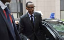 FILE: Rwanda's President Paul Kagame arrives for the 4th EU-Africa summit on April 2, 2014 at the EU Headquarters in Brussels. Picture: AFP.